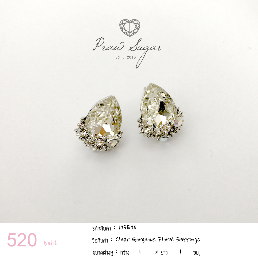 Clear Gorgeous Floral Earrings