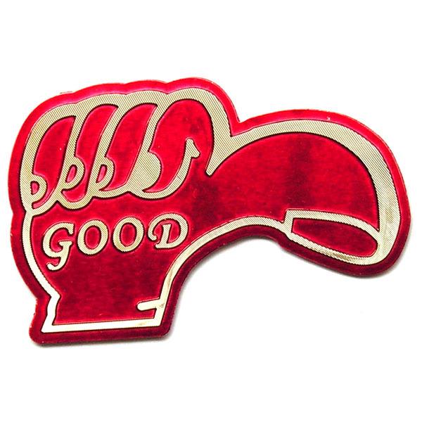 สติ๊กเกอร์ติดรถยนต์สะท้อนแสงสีแดง Good 8.5x5.4 CM
