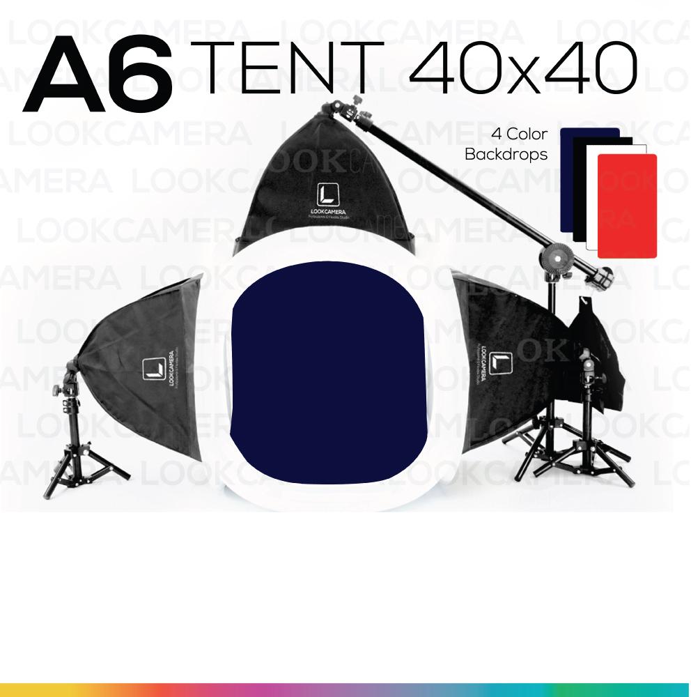 A6 TENT 40x40 ชุดไฟสตูดิโอแสงนุ่มแบบโปร