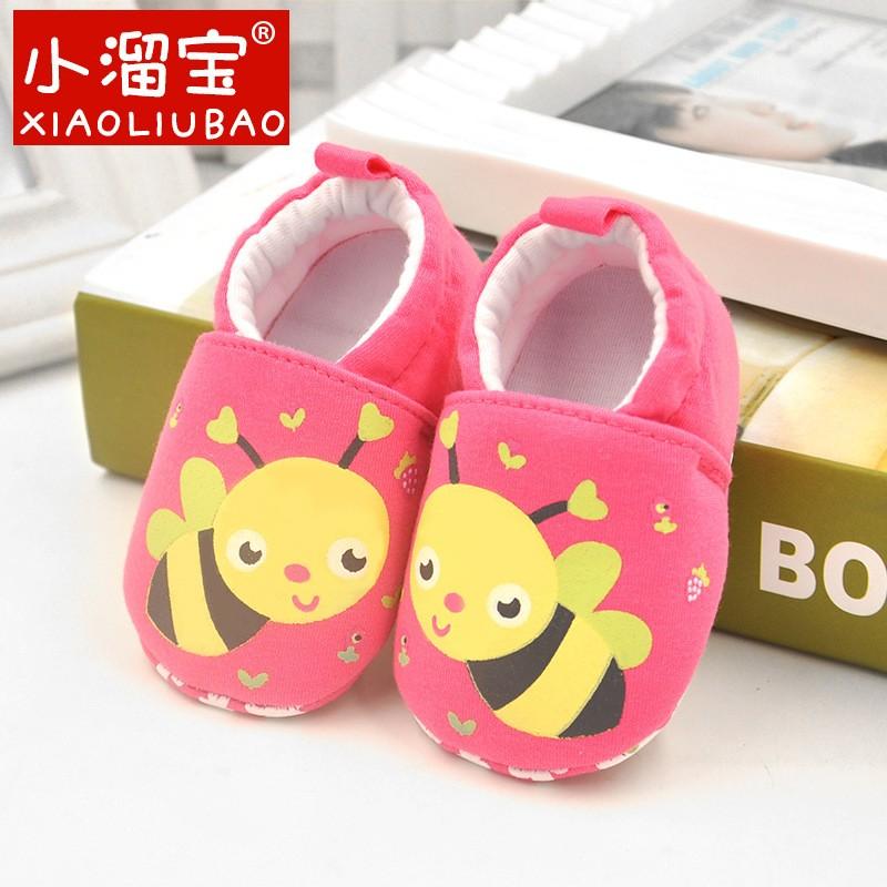 รองเท้าเด็กอ่อน 0-12เดือน รองเท้าเด็กชาย เด็กหญิง ลายผึ้งน้อย