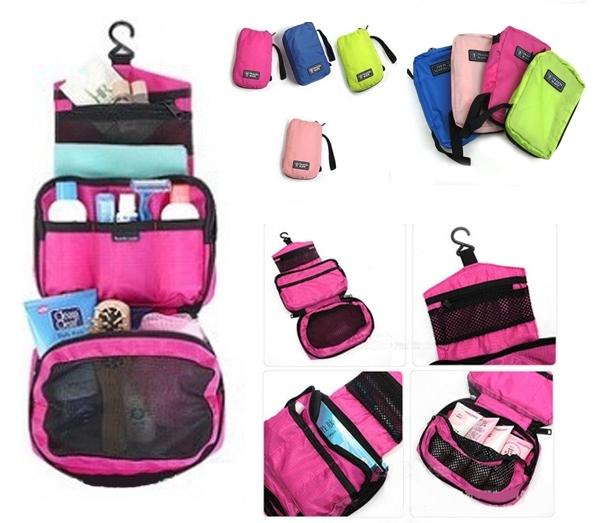 กระเป๋าใส่อุปกรณ์อาบน้ำ เครื่องสำอาง แขวนได้ กันน้ำ มี4สี