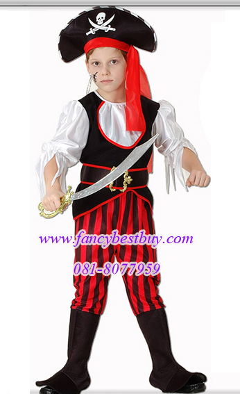 ชุดแฟนซีเด็กโจรสลัด มีขนาด XL (136-150 ซม.) สำหรับเด็กโต (ไม่รวมดาบ)