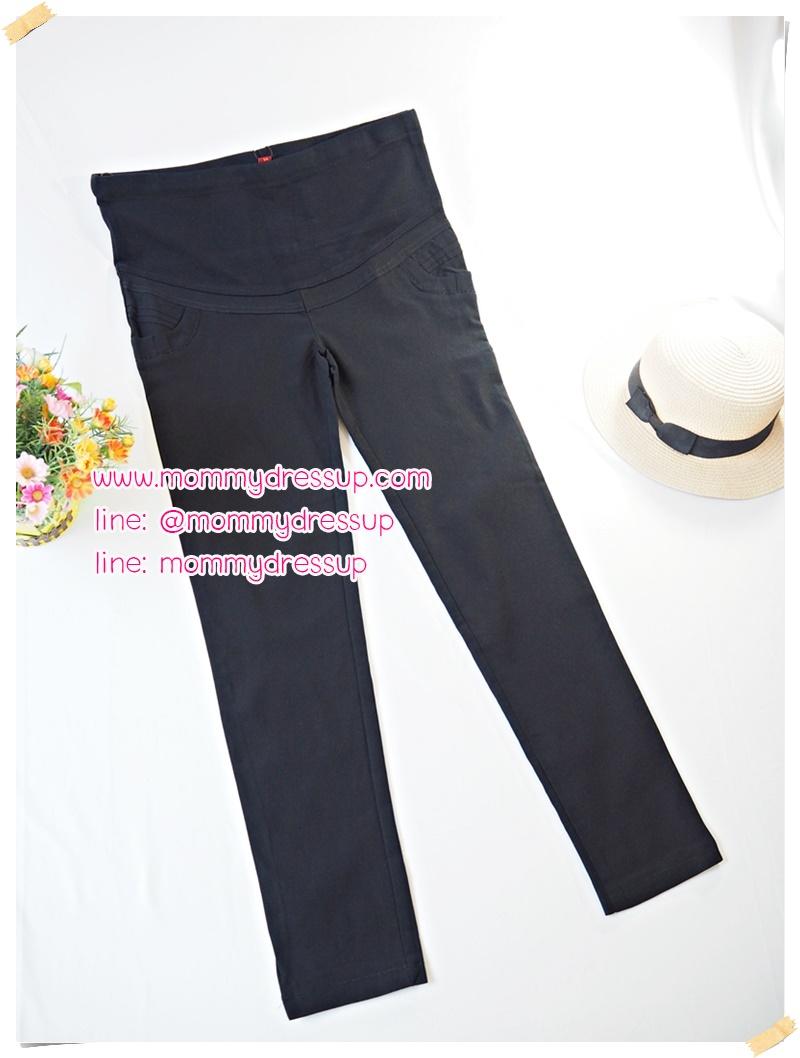 กางเกงขายาวทำงานสีดำขาเดฟ แต่งลาย3ชั้นที่กระเป๋าหน้า ผ้านิ่มใส่สบายค่ะ