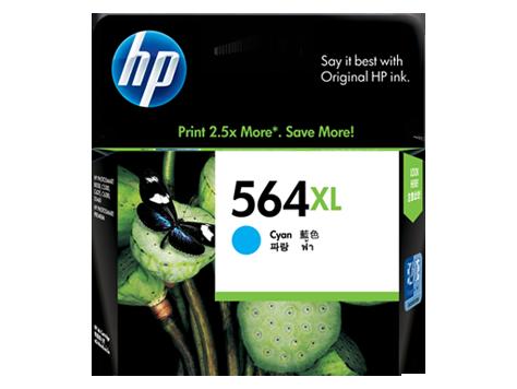 HP 564XL ตลับหมึกอิงค์เจ็ท สีฟ้า High Yield Cyan Original Ink Cartridge (CB323WA)