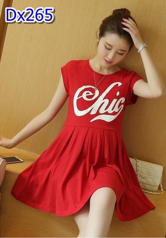 #เสื้อคลุมท้องลดราคาจร้า ผ้ายืดสีแดง คอกลมแขนกุด สกรีนอักษรสีขาวที่อก ผ้านิ่ม ใส่สบายๆอยู่บ้านชิวๆจร้า