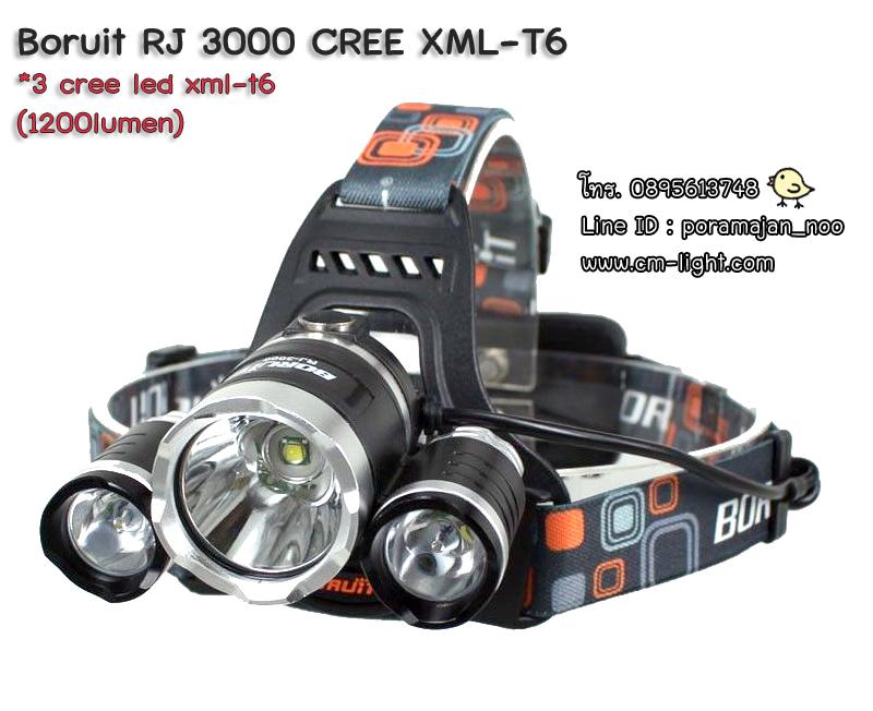 ไฟฉายคาดหัว Boruit RJ3000 CREE XML-T6