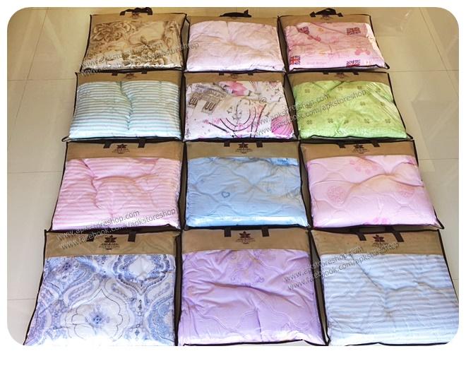 ขายส่ง ผ้าห่มนวมบางอัดความร้อน พิมพ์ลาย คอตตอน-ซาติน ส่ง 150 บาท