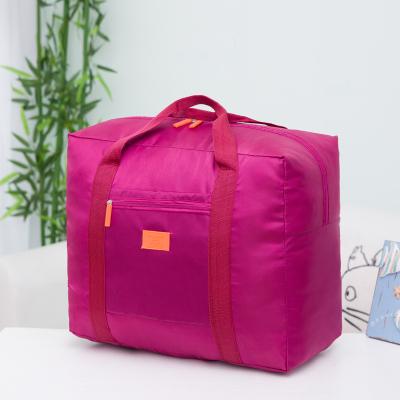 (สีบานเย็น) กระเป๋าเดินทางพับเก็บได้ สามารถพ่วงกับกระเป๋าเดินทางรถเข็นได้ ขนาด 42 x 34 x 18 CM ความจุ 30 ลิตร