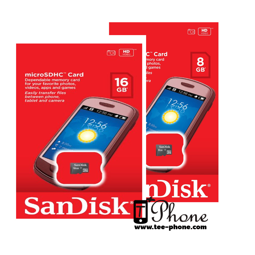 Sandisk MicroSDHC Card (กล่องแดงของแท้)