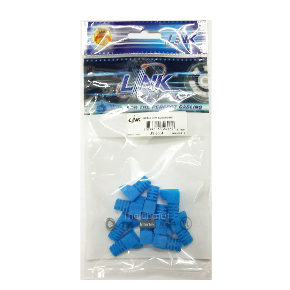 US-6004 Plug Boots ปลอกสวมRJ45 CAT5 LINK สีฟ้า