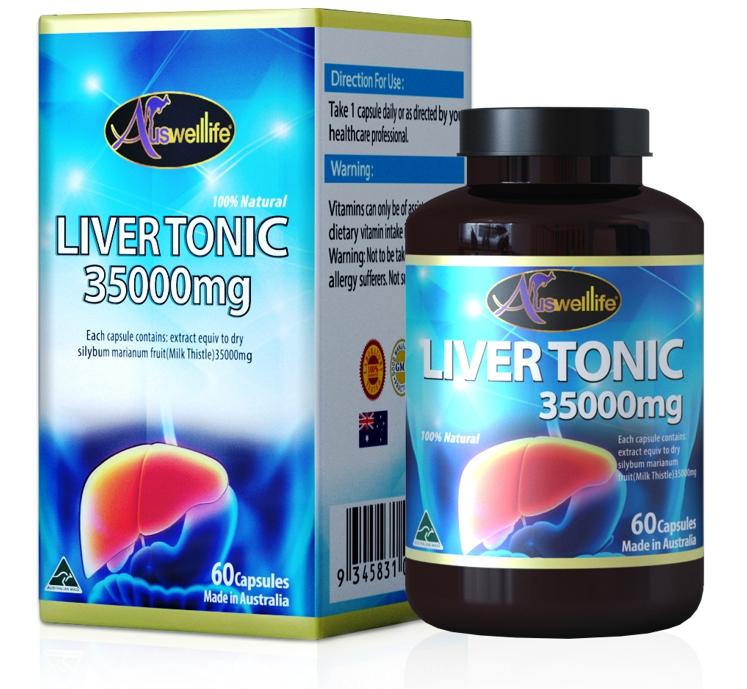 Auswelllife Liver Tonic 35000 mg. วิตามินบำรุงตับ