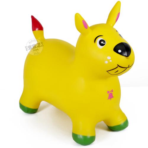 ตุ๊กตากระโดด เด้งดึ๋งหมาสีเหลือง ฟรีค่าจัดส่ง