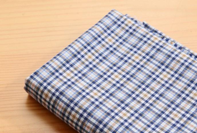 ผ้าคอตต้อนเกาหลี ลายตาราง Charming ผ้าฝ้าย 100% 30s ตัดขายขนาด 110x90 cm