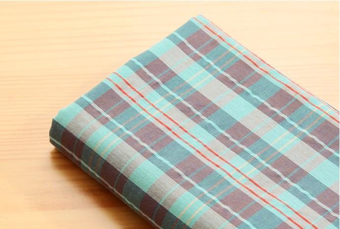 ผ้าคอตต้อนเกาหลี ลายตาราง Hershey ผ้าฝ้าย 100% 30s ตัดขายขนาด 110x90 cm