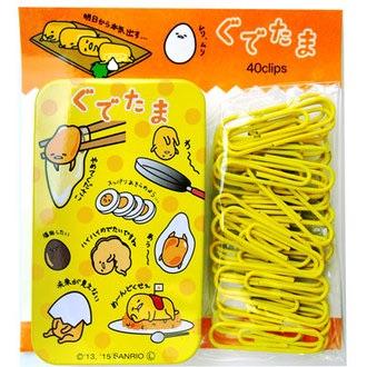 กล่องใส่คลิปหนีบกระดาษ Gudetama สีเหลือง