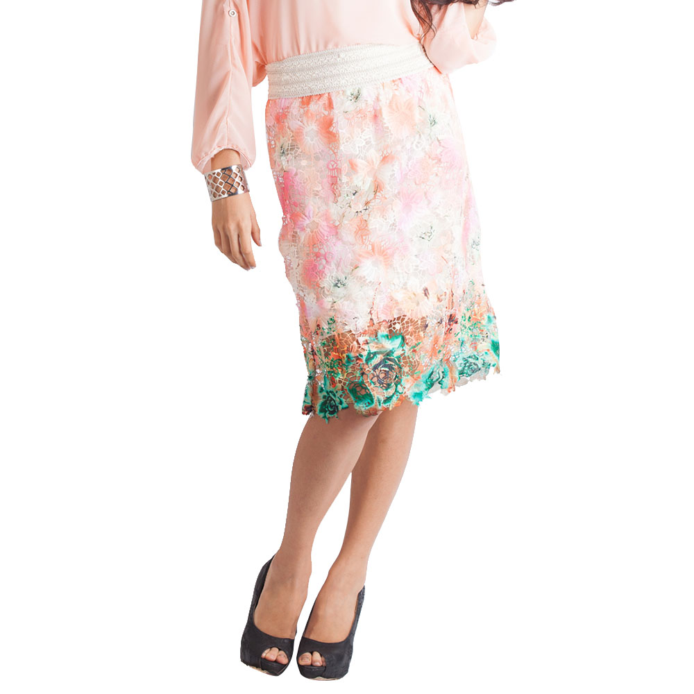 Flower Garden Lace Skirt