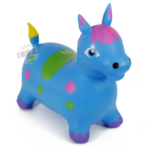 ตุ๊กตากระโดด เด้งดึ๋งม้าสีฟ้า ฟรีค่าจัดส่ง